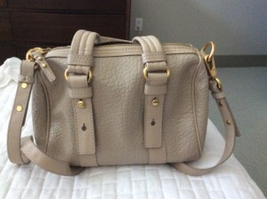 Marc Jacobs Satchel in Cream and gold