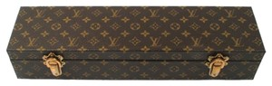 Louis Vuitton LOUIS VUITTON JEWELRY BOX - WATCH CASE - MONOGRAM BROWN LOGO HARD SHELL TRUNK