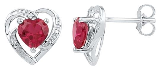 Other DESIGNER 10k WHITE GOLD 2.21 CTTW DIAMOND & RUBY LUXURY FASHION EARRINGS By BrianGdesigns