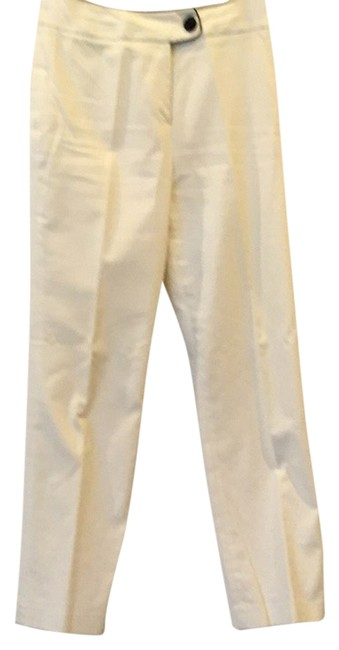 Item - White with Black Trimmed Waist Band Weekend Pants Size 4 (S, 27)