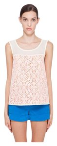 Marc by Marc Jacobs Silk Cotton Top Orange and White