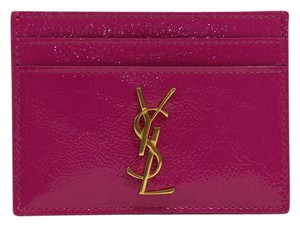 Saint Laurent YSL Women's Monogram Patent Leather Card Case