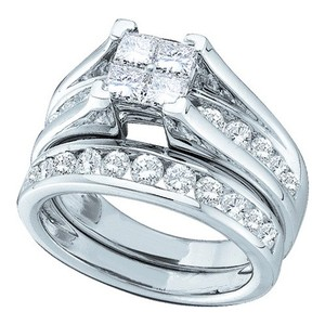 White Gold | Diamond Luxury Designer 10k 0.90 Cttw Invisible Set Engagement Rings