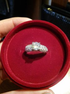 9.2.5 1 Carat Sterling Silver 925 Sterling Silver S925 Diamond Engagement Ring