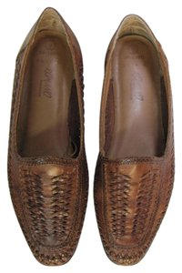 Romano Size 9.00 M Leather Very Good Condition Brown Flats