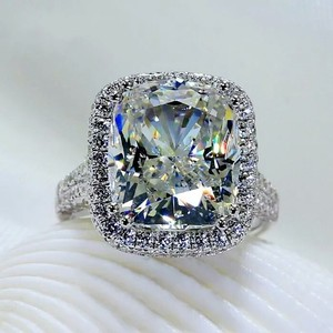 Huge 8 Karat Jewelry Bridal Engagement Wedding Diamond Ring Vintage Luxury Brand New Size 8