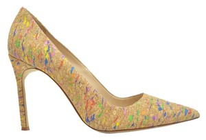 Manolo Blahnik NEUTRAL WITH BURST OF CONFETTI Pumps