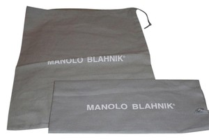 Manolo Blahnik New Manolo Blanhnik Set of 2 Sleeper/ Dust Bag/ Protective cover for Shoes or Purse Gray with White Logo Size: 14 Length 10inches width.