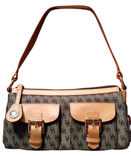 Preload https://item1.tradesy.com/images/dooney-and-bourke-model-hw-60qb1-gray-and-tan-logo-fabric-with-genuine-leather-strap-accents-shoulde-1674320-0-0.jpg?width=440&height=440