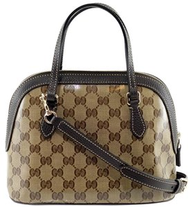 Gucci 341504 Mini Dome Crystal Canvas Cross Body Bag
