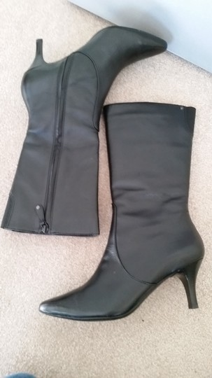 Rockport Leather Leather Black Boots