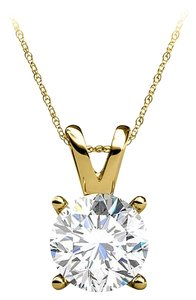 LoveBrightJewelry Free 16 Inch Chain with Diamond Pendant in Yellow Gold