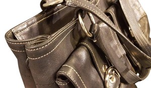 Coach Satchel in Black All Leather