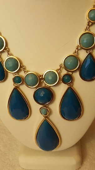 Francesca's Fashion Necklaces and Pendants Turquoise and Blue Gem Stone Style:Statement
