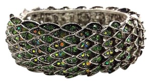 Elle Cross Elle Cross Iridescent Green Crystal Mother of Dragons Scale Bangle Bracelet 8