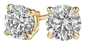LoveBrightJewelry Natural Diamond Stud Earrings Yellow Gold at Fab Price