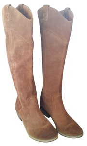 Restricted Brown Champagne Suede Leather Boots