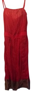 Cynthia Rowley short dress Red With Tan On Bottom on Tradesy
