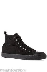 Cheap Monday Base High Top Canvas Sneaker In W Black Athletic