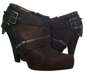 ALDO Soft Leather Buckles Zippers black Boots