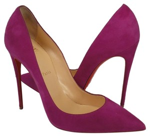 Christian Louboutin So Kate purple Pumps