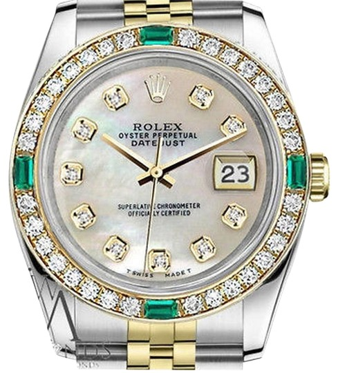 Preload https://img-static.tradesy.com/item/16746781/rolex-women-s-steel-and-gold-31mm-datejust-mop-color-emerald-diamond-watch-0-1-540-540.jpg