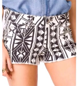 Forever 21 Mini/Short Shorts Black/White