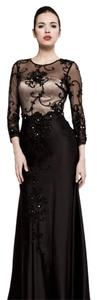 Saboroma Evening Gown Size 6 Black/Nude Dress