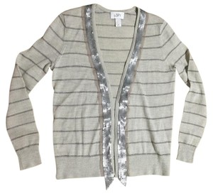 Ann Taylor LOFT Embellished Wool Trim Sequins Cardigan