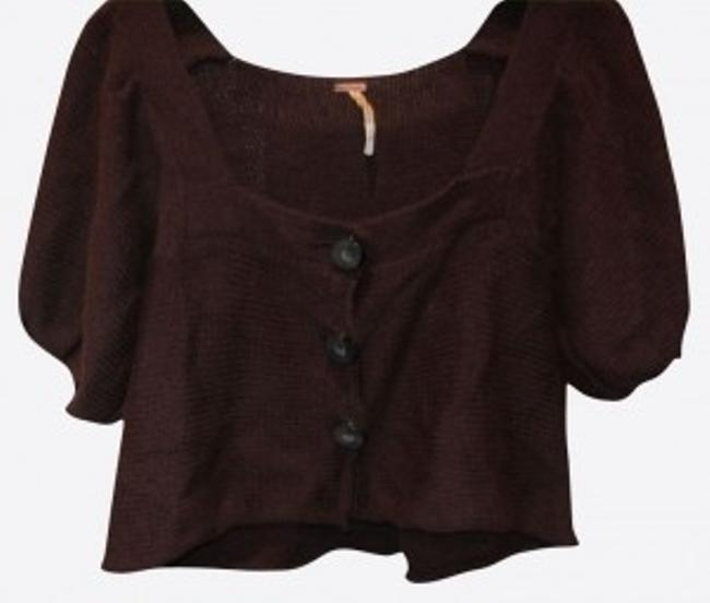 Preload https://item3.tradesy.com/images/free-people-brown-short-cardigan-size-4-s-16747-0-0.jpg?width=400&height=650