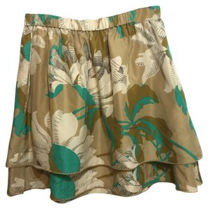 Odille Skirt Tan turquoise