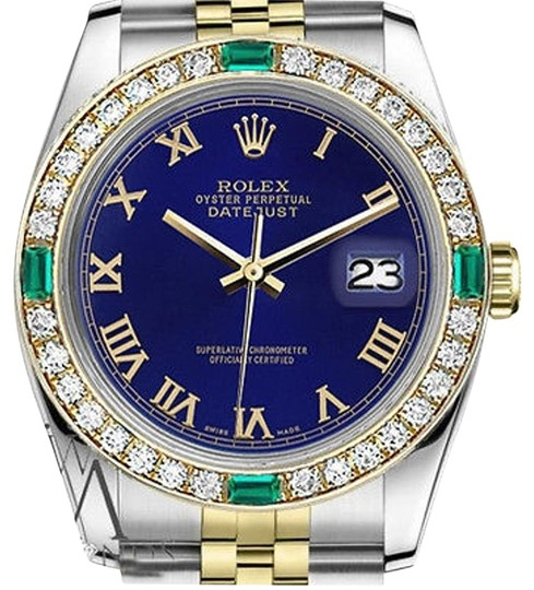 Preload https://img-static.tradesy.com/item/16747498/rolex-36mm-datejust-2-tone-blue-color-emerald-roman-numeral-dial-watch-0-1-540-540.jpg