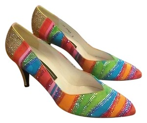 Stuart Weitzman Vintage Multi-Color Pumps