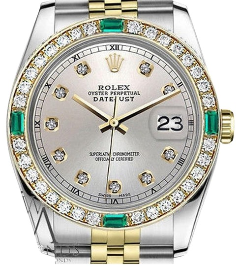 Preload https://img-static.tradesy.com/item/16747669/rolex-women-s-31mm-datejust-2tone-silvercolor-dialwith-emerald-diamond-watch-0-1-540-540.jpg