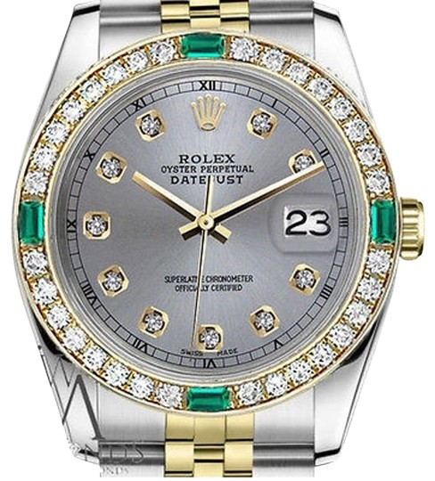 Preload https://img-static.tradesy.com/item/16747732/rolex-36mm-datejust-2tone-grey-color-dial-with-emerald-diamond-watch-0-1-540-540.jpg