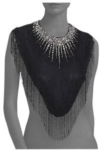 Haute Hippie Embellished Black Bib Top