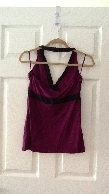 Old Navy purple and black Halter Top