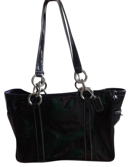 Preload https://item2.tradesy.com/images/coach-eastwest-black-leather-tote-1674781-0-0.jpg?width=440&height=440