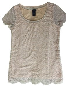 Ann Taylor Lace Cami Layer T Shirt Peach