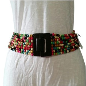 Wet Seal New Rainbow Bead Elastic Waist Belt S