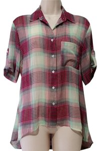 Band of Gypsies Button Down Shirt Multicolor