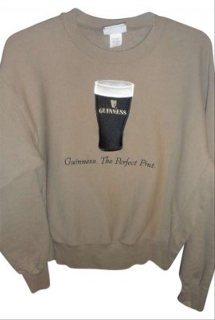 "Guinness Sweatshirt by Lee Jeans ""the Perfect Pint"" Size L Beige Color Sweatshirt"