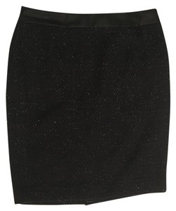 Ann Taylor Tweed Pencil With Tags Skirt Black