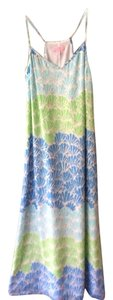 Blue, green, gold shimmer Maxi Dress by Lilly Pulitzer
