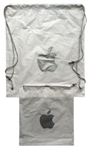 Apple Bundle of 2 Apple drawstring bags - 17x19 backpack and 5x7 wristlet