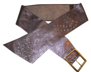X wide studded soft leather