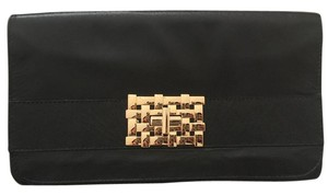 Cutch Leather Black Clutch