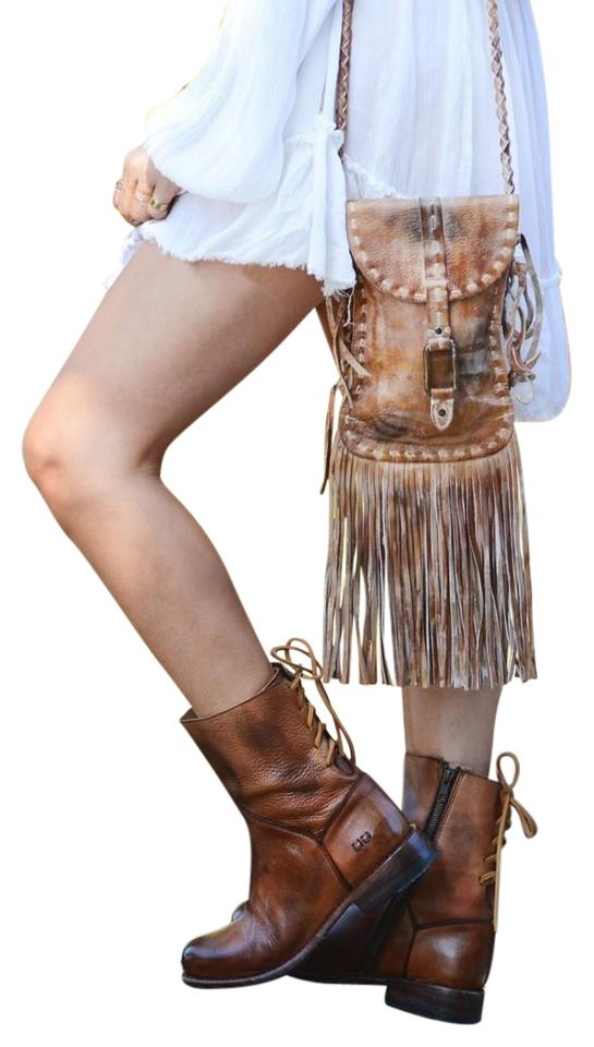 Bed Stü Tan Glove Tie-back Distresssed In Leather Leather Leather New Boots/Booties 0224bd