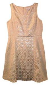 Jessica Simpson Metallic Brocade Dress