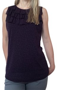 The Limited Top Polka dot sleeveless blouse